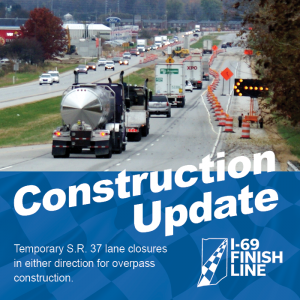 Temporary lane closures in either direction